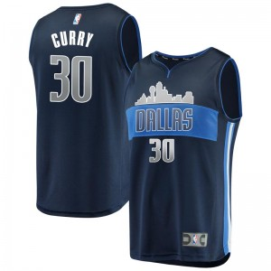 Men's Seth Curry Dallas Mavericks Swingman Navy Fast Break Jersey - Statement Edition